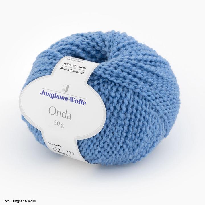 Onda Junghans-Wolle, blue
