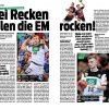 Die Recken rocken! - Sport Planer Handball EM 2020 + Beileger