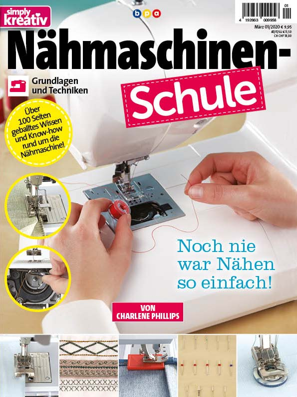 Simply Kreativ Nähmaschinen-Schule 01/2020