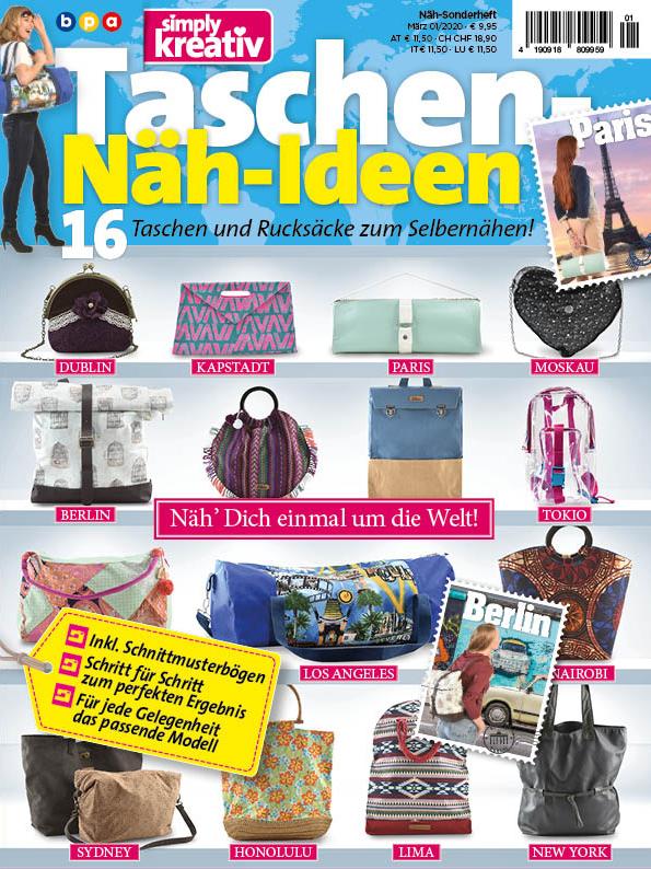 Simply Kreativ Taschen-Näh-Ideen Heft 01/2020