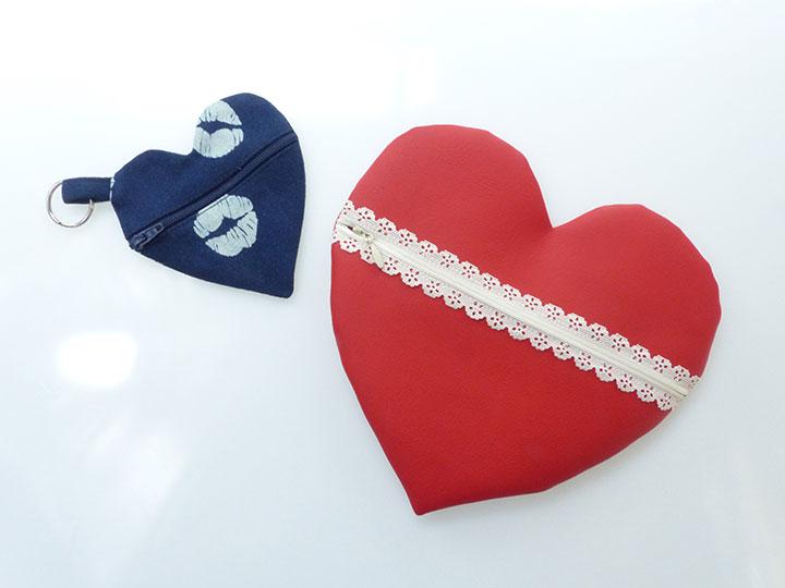 Valentinstag Herztaschen fertig