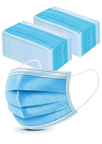 50 Stck. Einweg-Mundschutzmasken mit Schlaufen