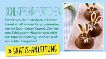 Newsletter Gratis Rezept - Schlappohr-Törtchen