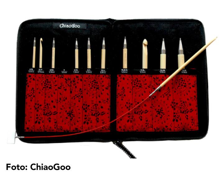 ChiaoGoo austauschbare tunesische Häkelnadel Stricknadel Häkeln T-Spin Bamboo