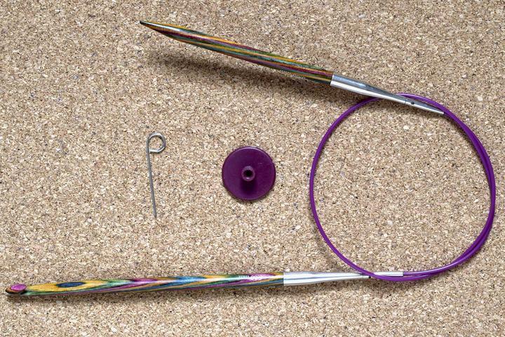 KnitPro Kombination austauschbare tunesische Häkelnadel und Stricknadel