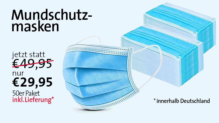 Mundschutzmasken zum Sonderpreis