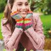 Strickanleitung - Regenbogenbunt - Simply Stricken Extra kompakt Handschuhe & Stulpen 01/2020
