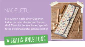 Newsletter Gratis Nähanleitung - Nadeletui