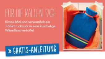 Newsletter Gratis Nähanleitung - Wärmflasche