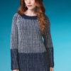 Strickanleitung - Zweifarbiger Brioche-Pullover - Best of Designer Knitting 01/2021