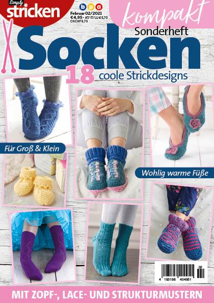 Simply Stricken Kompakt Sonderheft Socken 02/2021