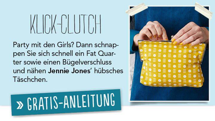 Newsletter Gratis Nähanleitung - Klick-Clutch