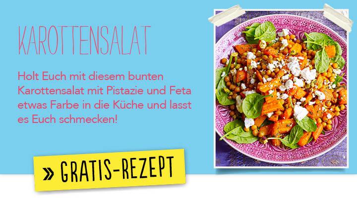 Newsletter Gratis Rezept - Karottensalat