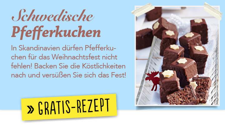 Newsletter Gratis Rezept - Schwedische Pfefferkuchen