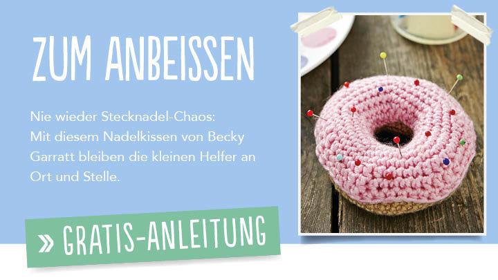 Gratis Häkelanleitung - Donut Nadelkissen