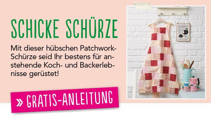 Newsletter Gratis Nähanleitung Schürze Simply Kreativ 0415