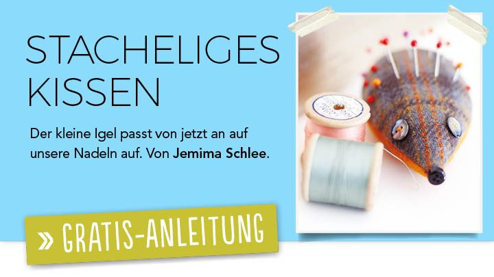 Newsletter Gratis Nähanleitung - Stacheliges Kissen