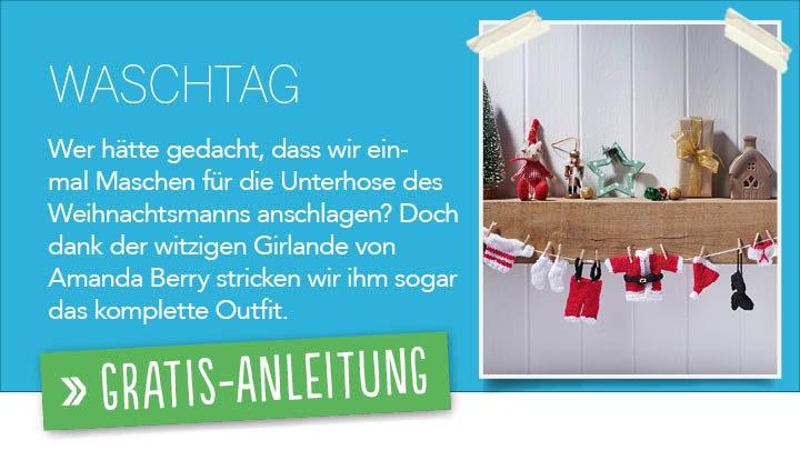 Gratis Strickanleitung - Waschtag