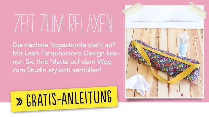 Newsletter Gratis Nähanleitung - Zeit zum relaxen