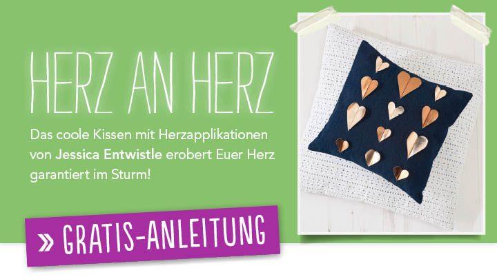 Newsletter Gratis Nähanleitung - Herz an Herz