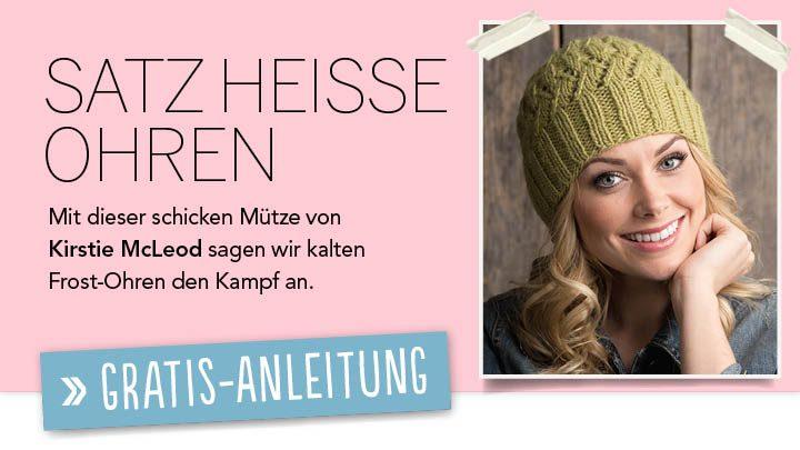 Newsletter Gratis Strickanleitung Satz heiße Ohren
