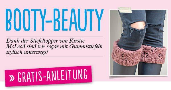 Newsletter Gratis Strickanleitung Stiefelstulpen