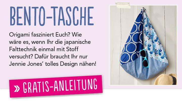 Newsletter Gratis Nähanleitung Bento-Tasche