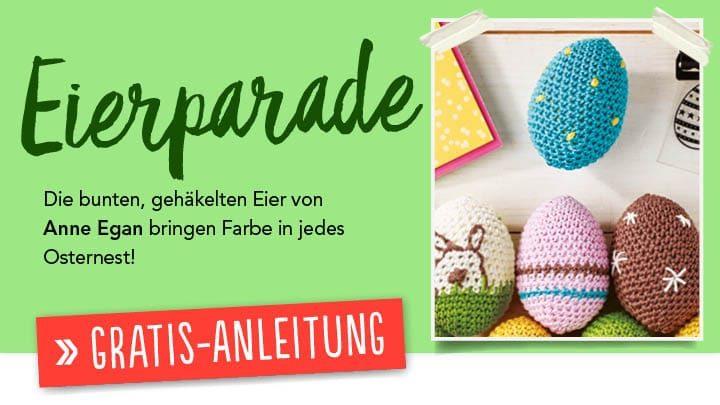 Gratis Häkelanleitung - Eierparade