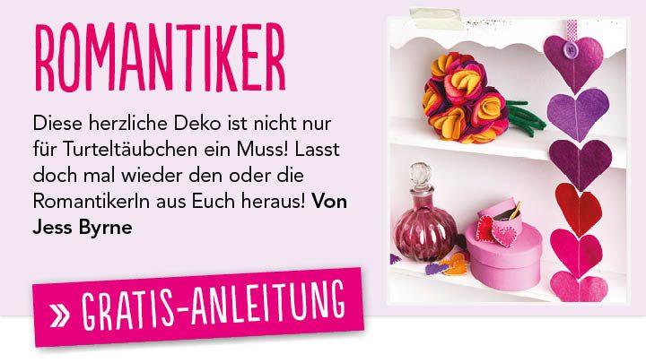 Gratis DIY-Anleitung Filzherzen