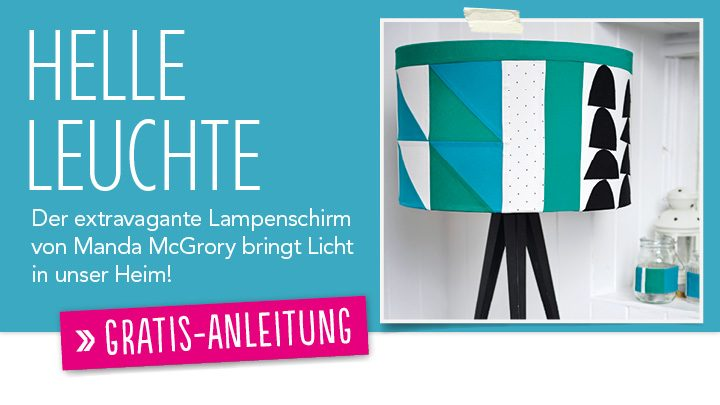 Gratis Näh Anleitung Lampenschirm Patchwork Quilting 0115