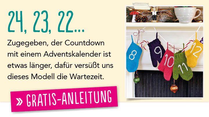 Newsletter Gratis Häkelanleitung Countdown
